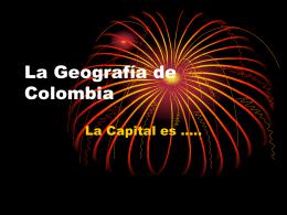 La Geografía de Colombia