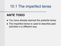 10.1 The imperfect tense - my-spanish