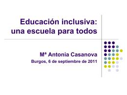 Educación democrática, educación inclusiva