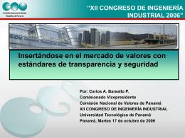 Comisión Nacional de Valores - Superintendencia del Mercado de