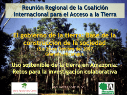 Abel Meza - ICRAF - International Land Coalition