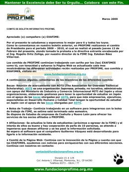 Marzo_2009 - Fundacion Pro-FIME
