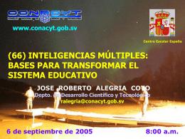 INTELIGENCIAS MÚLTIPLES - Consejo Nacional de Ciencia y