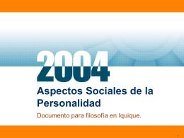 Aspectos Sociales de la Personalidad
