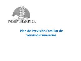 CLICK para ver Plan de previsión familiar de servicios funerarios