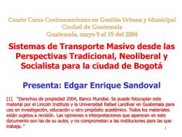 El Sistema de Transporte Masivo de Bogotá