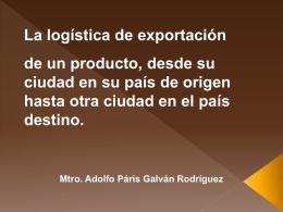 Logistica de exportacion de un producto con embalajes