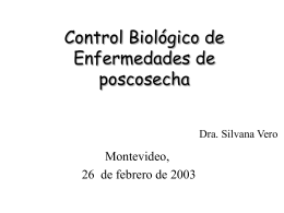 Ventajas para el control biológico en postcosecha