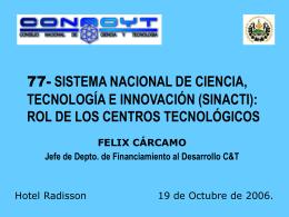 Sistema Nacional de Ciencia, Tecnología e Innovación. SINACTI