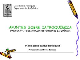 apuntes sobre iatroqimica - liceo camilo henriquez