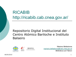 Microsoft PowerPoint - Ricabib