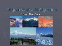 Mi gran viaje a la Argentina