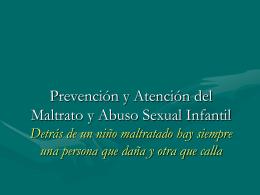 Promoción del buen trato y prevención del Maltrato Infantil