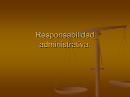 Responsabilidad administrativa