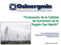 situación de los sistemas eléctricos pertenecientes a la región san