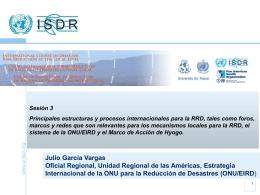 Procesos internacionales de RRD