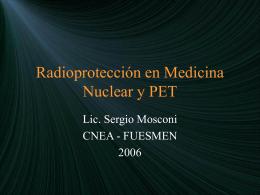 Radioprotección en Medicina Nuclear y PET