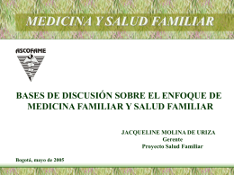 MEDICINA Y SALUD FAMILIAR