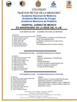 Academia Nacional de Medicina Academia Mexicana de Cirugía