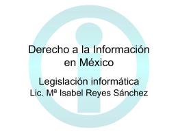 Derecho a la Información en México