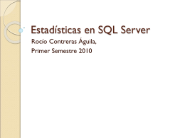 Estadísticas en SQL Server