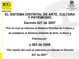 el decreto 627 de 2007 - Universidad Sergio Arboleda