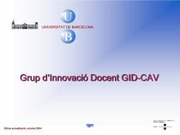 Grup d`Innovació Docent GID