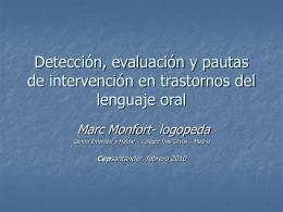 Detección precoz de los trastornos del lenguaje