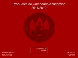 Propuesta de Calendario Académico