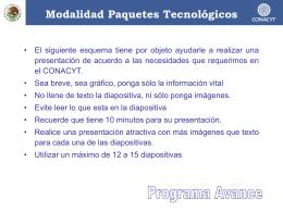 Ejemplo de Presentación electrónica del proyecto y/o CIES