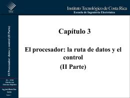 datos y control (II Parte) - Escuela de Ingeniería Electrónica