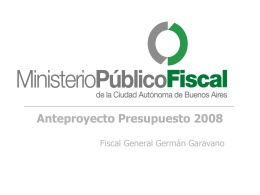 Presentación Presupuesto MPF Legislatura