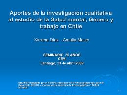 Aportes de la investigación cualitativa al estudio de la Salud mental