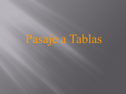 Pasaje a Tablas