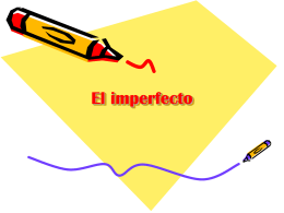 El imperfecto - mssalswikipage