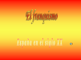 EL FRANQUISMO - I like the idea