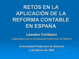 LA REFORMA CONTABLE EN ESPAÑA: ARMONIZACIÓN