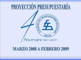 PROYECCION - Colegio de Trabajadores Sociales de Costa Rica