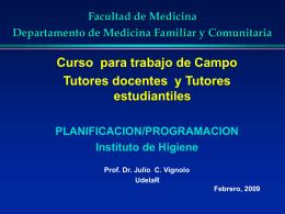 PlaniProgratrabajocampo - Dpto. de Medicina Familiar y
