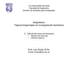 4 Topicos Especiales en Computacion Numerica