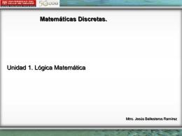 Matemáticas Discretas - Unidad 1