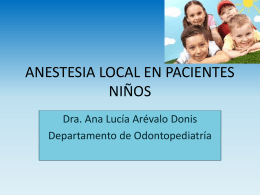 Anestesia Local En Niños