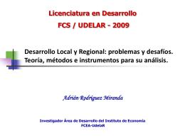 Adrian Rodríguez - Desarrollo Local y Regional
