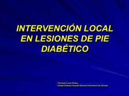 consenso en la intervención local de lesiones en pie diabético