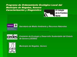Programa de Ordenamiento Ecológico Local del