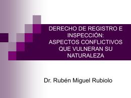 derecho de registro e inspección - seminario internacional sobre
