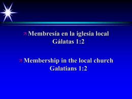 Membresía en la iglesia local