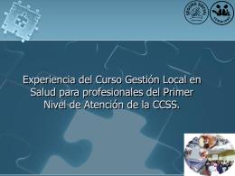 Curso Gestión Local en Salud