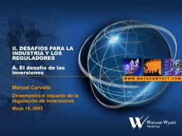 El desafío de las inversiones - Manuel Carvallo - mayo
