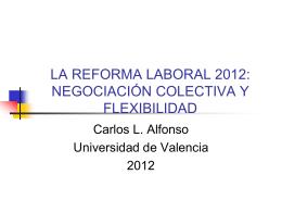Reforma laboral ppt - Observatorio de la Negociación Colectiva